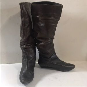 Gianni Bini Tall Leather Brown Boots sz 6